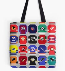 8-Bit Hockey Jerseys Tote Bag
