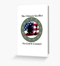 God & Coundtry Greeting Card