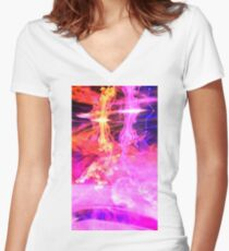 Water Explosions Women's Fitted V-Neck T-Shirt