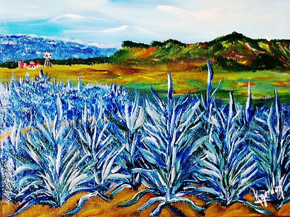 Blue Agave Farm  by WhiteDove Studio kj gordon
