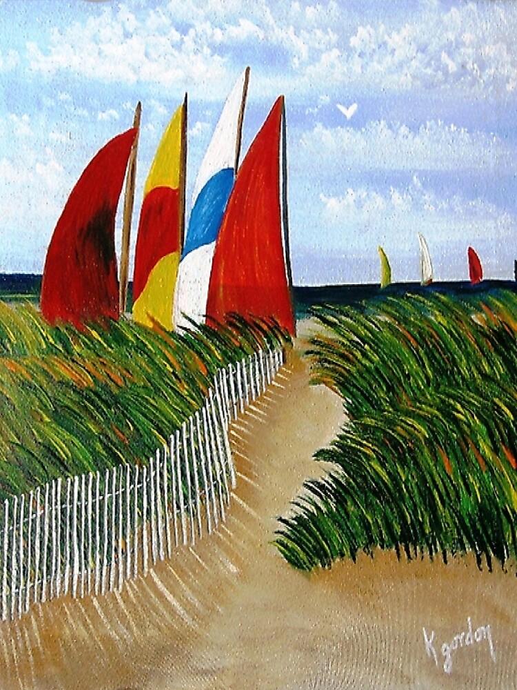 Pathway to Sails by WhiteDove Studio kj gordon
