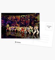 Street Fighter II pixel art Postcards