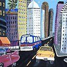 Uncle Eddy's Yellow Taxi by WhiteDove Studio kj gordon