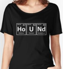 Hound (Ho-U-Nd) Periodic Elements Spelling Women's Relaxed Fit T-Shirt