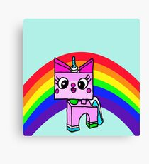 Lego cat Canvas Print