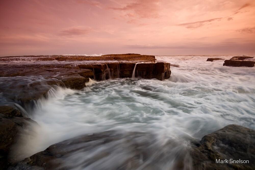 Bar Beach Rock Platform 2 by Mark Snelson