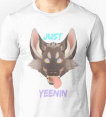 Just Yeenin-Striped hyena Unisex T-Shirt
