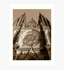Katedrala Svateho Vita (Prague cathedral) Art Print