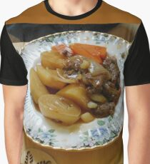 Meat and Vegetables Graphic T-Shirt