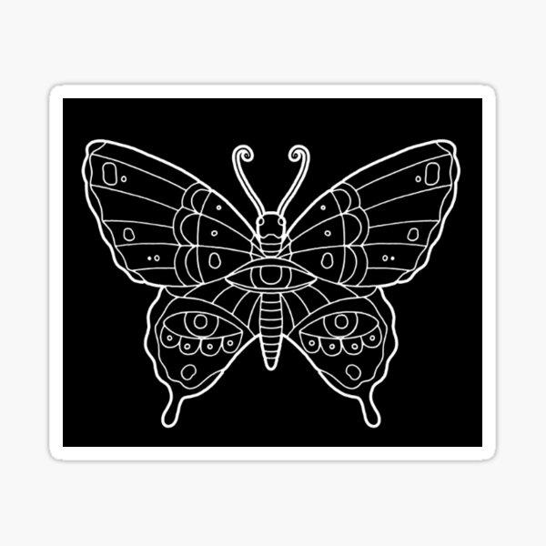 Black Butterflies and Déjà Vu Sticker
