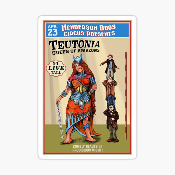 Teutonia Queen of the Amazons Sticker