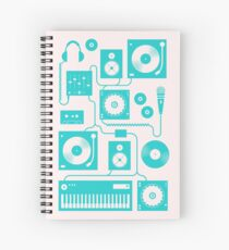 Four To The Floor - Teal Spiral Notebook