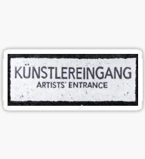 Artist's Entrance Sticker