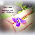 Hope never Abandons you by Charmiene Maxwell-Batten
