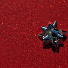 Christmas:  Silver Star on Millions of Red Sparkles by Jen Waltmon