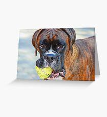 Tennis jedermann ?? ... -Boxer Dogs Series- Grußkarte
