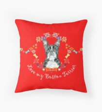 Boston Terrier to Fall in Love With Throw Pillow