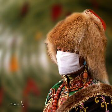 dusty day in Xiahe  by dominiquelandau