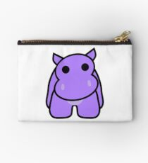 Crumple the Grumpy Hippo Zipper Pouch