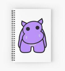 Crumple the Grumpy Hippo Spiral Notebook
