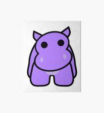 Crumple the Grumpy Hippo Art Board Print