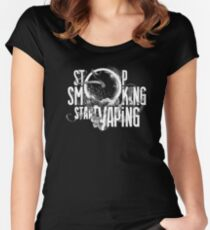 stop smoking start vaping Women's Fitted Scoop T-Shirt