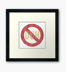 No Duh - Funny Framed Print