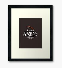 The Quick Brown Fox Framed Print