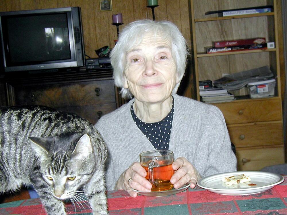 grandmother with cat by hugh bridgeford