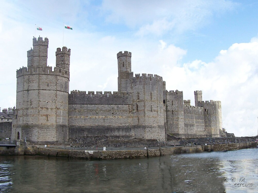 Caernarfon castle. North Wales.  by ccrcats
