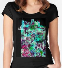 Cool Graffiti Collage 2 Women's Fitted Scoop T-Shirt
