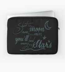 Shoot For The Moon Motivational Quote Laptop Sleeve
