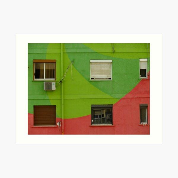 Tirana - Watermelon House Art Print