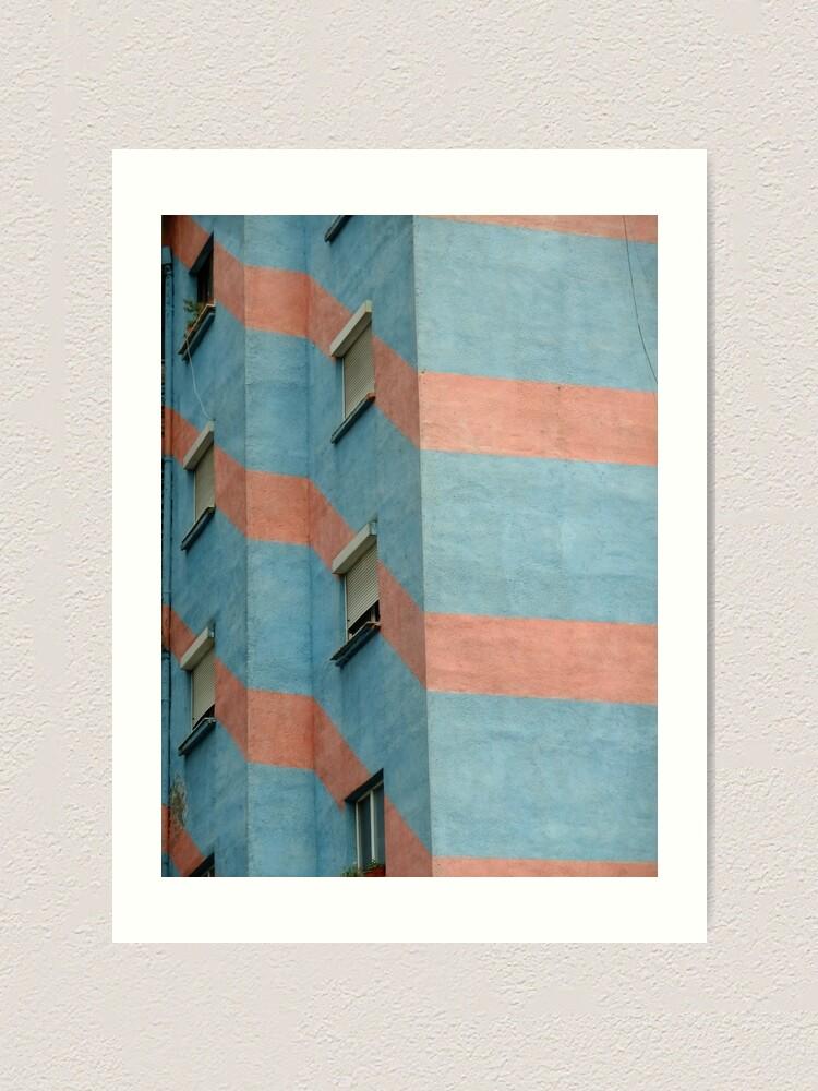 Alternate view of Urban Geometry - Tirana, Albania Art Print
