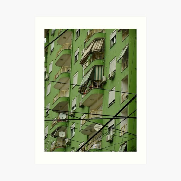 Messy Urban Geometry Art Print