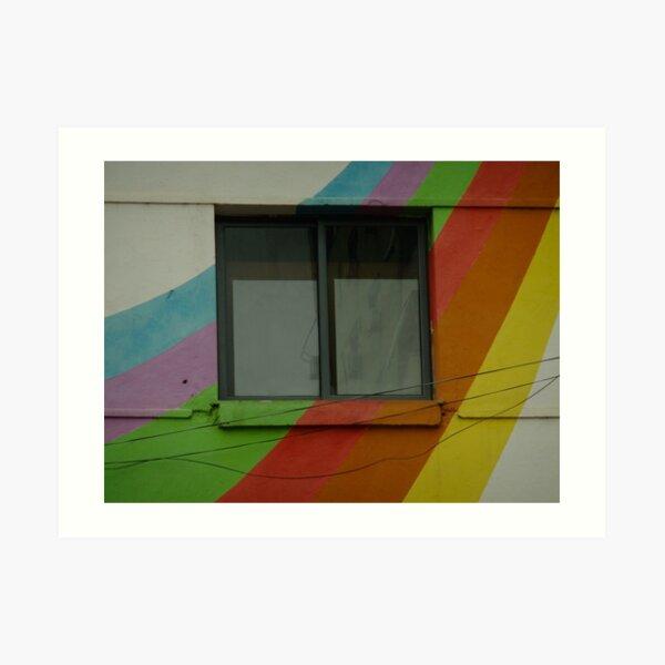 Rainbow House Tirana Art Print
