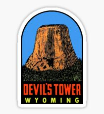 Devils Tower Wyoming Vintage Travel Decal Sticker