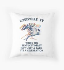 The Kentucky Derby is a 2 Week Celebration! Throw Pillow