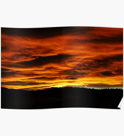 Sunset In The Rockies Poster