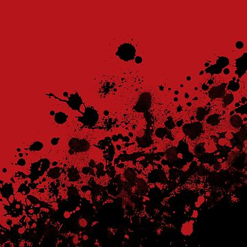 """Confidence"" (Red and Black Splatter) by amyerson"
