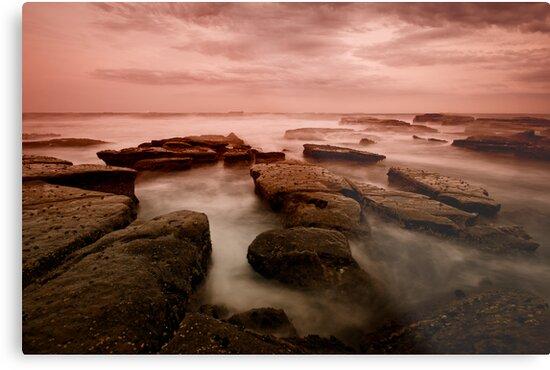 Bar Beach Rock Platform 6 by Mark Snelson