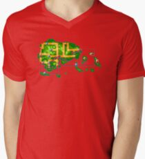 Hoenn map Mens V-Neck T-Shirt