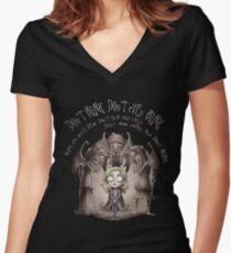 Dont Blink Women's Fitted V-Neck T-Shirt