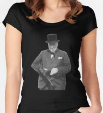 Sir Winston Churchill  Women's Fitted Scoop T-Shirt