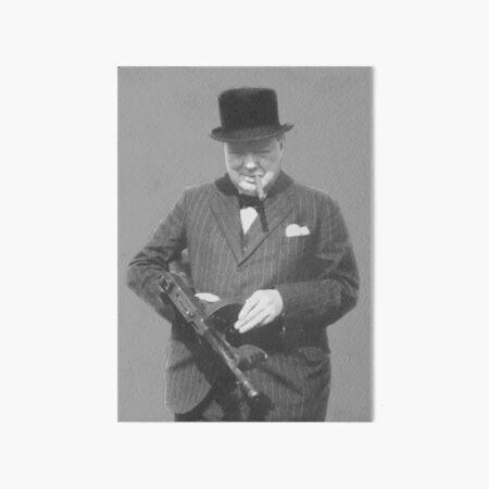 Sir Winston Churchill  Art Board Print