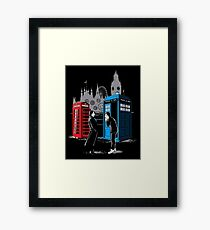 Cabins Collide Framed Print