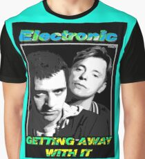 """Joy Division New Order Smiths Electronic """"Getting Away With It"""" design Graphic T-Shirt"""