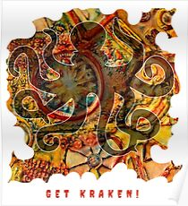 GET KRAKEN HP LOVECRAFT OCTOPUS Poster