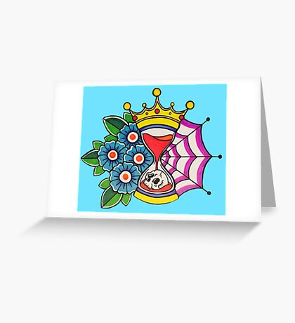 Time is King Greeting Card