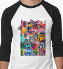 Cool Graffiti Collage 3 Men's Baseball ¾ T-Shirt